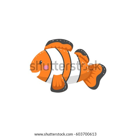 trendy cartoon style orange