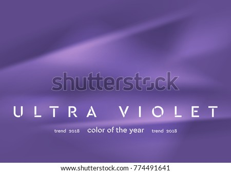 Trendy color ultra violet 2018. Smooth vector abstract art background