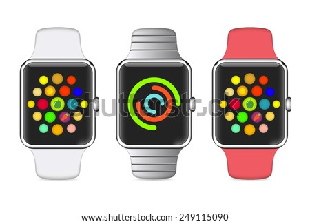 trendy colorful vector