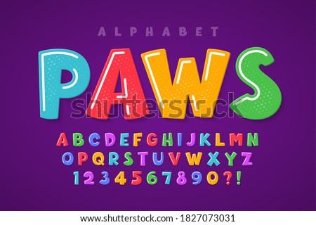 Trendy comical original alphabet design, colorful, typeface. Vector illustration, decorative typeset. Stock photo ©