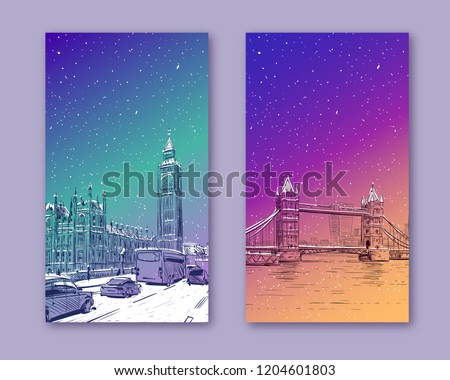 trendy cover template winter