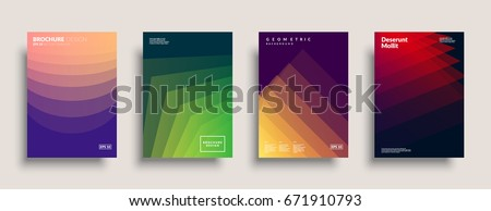 Trendy covers design. Simple shapes overlap. Eps10 vector.