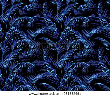 trendy dark tropical palm