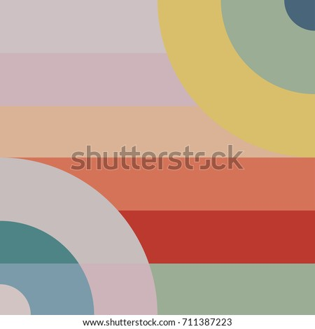 Trendy design vector abstract pastel color block geometric background
