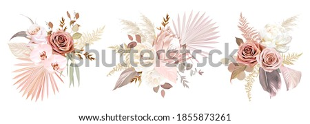 trendy dried palm leaves  blush