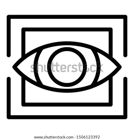 Trendy eye alchemy icon. Outline trendy eye alchemy vector icon for web design isolated on white background