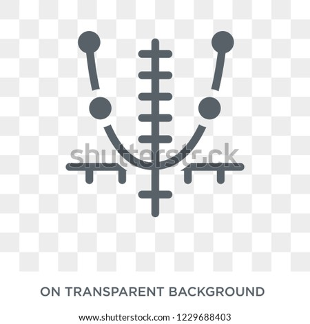 Trendy flat vector Tangent icon on transparent background from Business and analytics collection. High quality filled Tangent symbol use for web and mobile