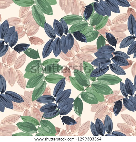 trendy floral background with