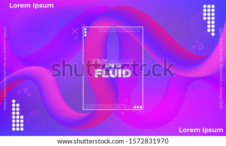 Trendy geometric background. 3d Fluid wave liquid shape. Applicable for gift card cover poster,  Poster on wall poster template,  landing page, ui, ux ,coverbook,  baner, social media posted, gift