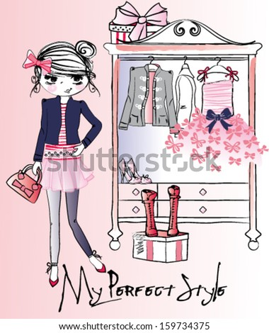 trendy girl wardrobe