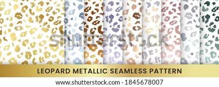 trendy gold leopard abstract