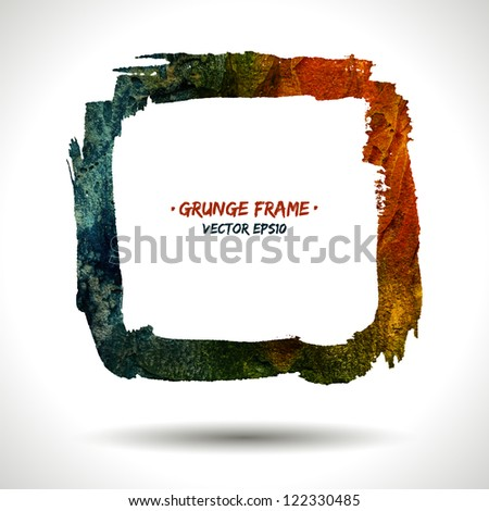Trendy grunge vector frame. Grunge background. Watercolor background. Retro background. Vintage background. Business background. Abstract background. Hand drawn. Texture background. Abstract shape