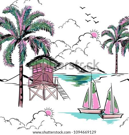 trendy  hawaiian in sweet color