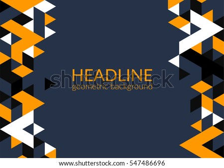 Trendy horizontal geometric background, triangle pattern field with space for your text. Vector illustration.