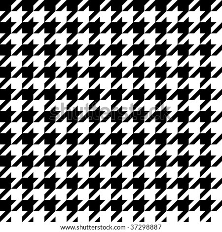 Trendy hounds tooth pattern that tiles seamlessly as a pattern.