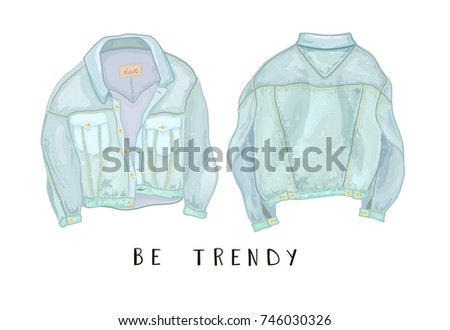 Blue Jean Jacket Free Vector Download Free Vector Art Stock