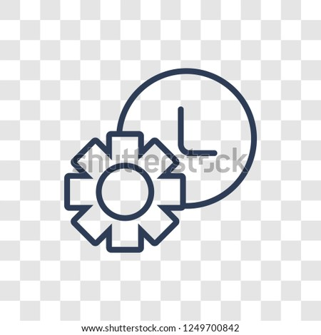 Trendy linear icon. Trendy Trendy logo concept on transparent background from Productivity collection