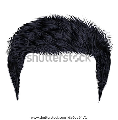trendy  man hairs   black