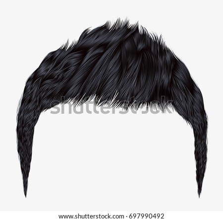 trendy man hairsbrunette black