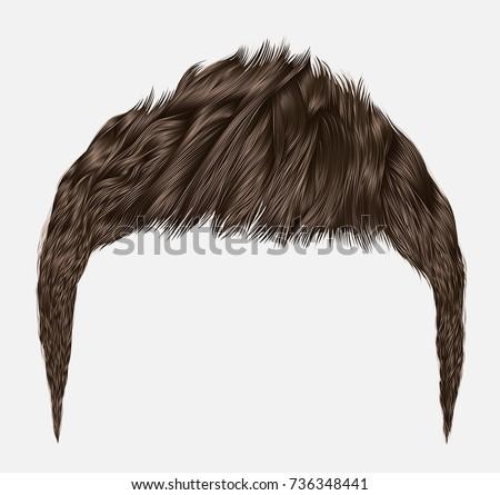 trendy man hairsbrunette brown