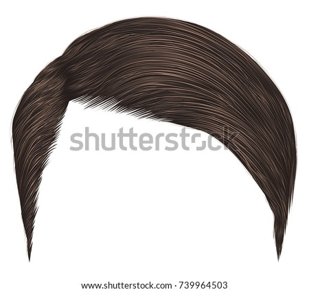 trendy man hairsdark brown