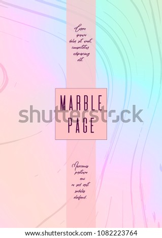 Trendy Marble Cover Design for your Business with Abstract Lines. Futuristic Poster, Flyer, Layout with Liquid Pattern for Branding, Identity, Annual Report. Vector minimalistic brochure. Luxury.