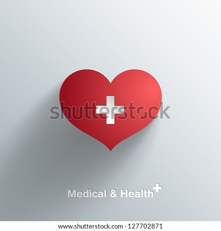 Trendy Medical Symbol With Transparent Shadow