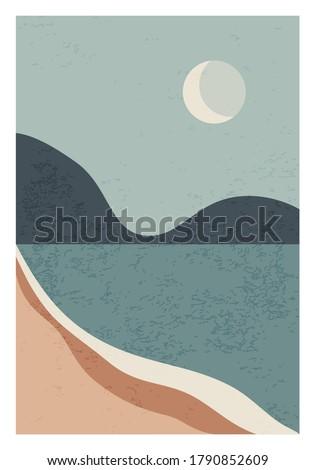 trendy minimalist landscape