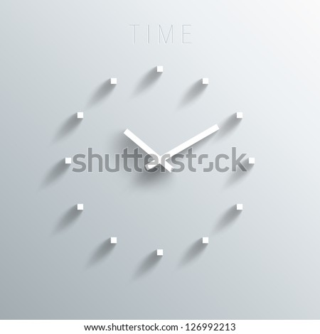 Trendy Minimalistic 3D Clock With Transparent Shadow