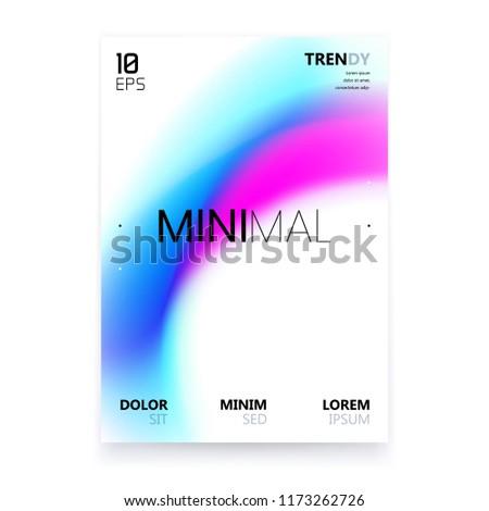 trendy minimalistic fluid