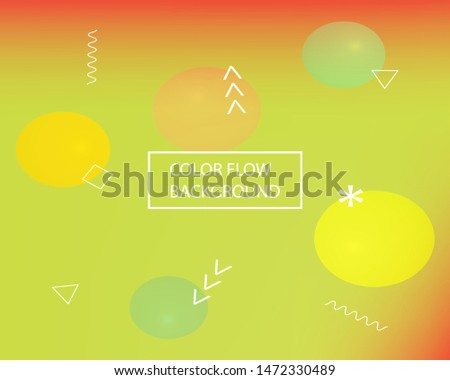 Trendy modern abstract background. Simple backdrop with simple muffled colors. Vector illustration theme. Green elegant and easy editable smooth banner template.