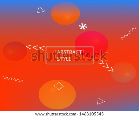 Trendy modern abstract background. Vector illustration vintage. Simple backdrop with simple muffled colors. Red elegant and easy editable smooth banner template.