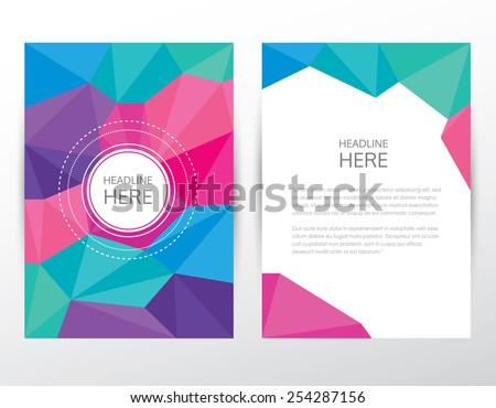 trendy modern brochure cover