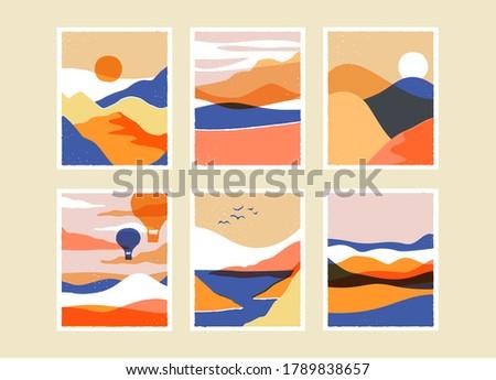 trendy mountain landscape