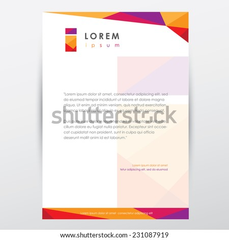 Header footer images download free images trendy multicolored letterhead design template for business presentations with letter i logo element accmission Gallery
