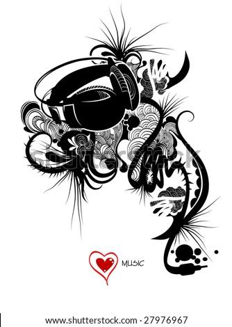 Trendy music design, vector