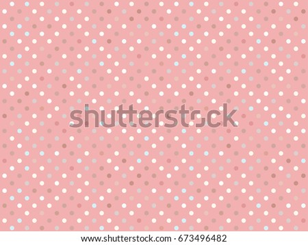 Trendy pattern polka dot. Vector isolated on trend pastel background. Concept Satisfying slime. ASMR.