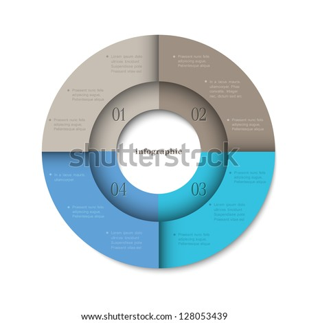 Trendy round design template for infographics and website templates or design graphic for business. Vector EPS10