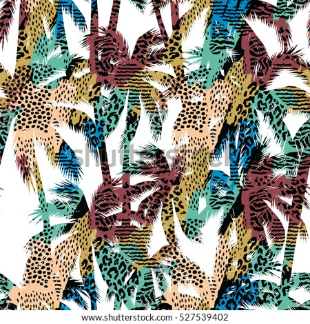 trendy seamless exotic pattern