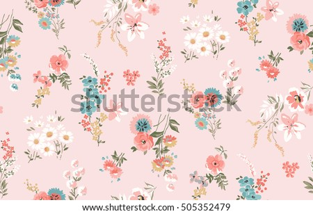 stock-vector-trendy-seamless-floral-pattern-in-vector