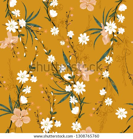trendy seamless pattern of