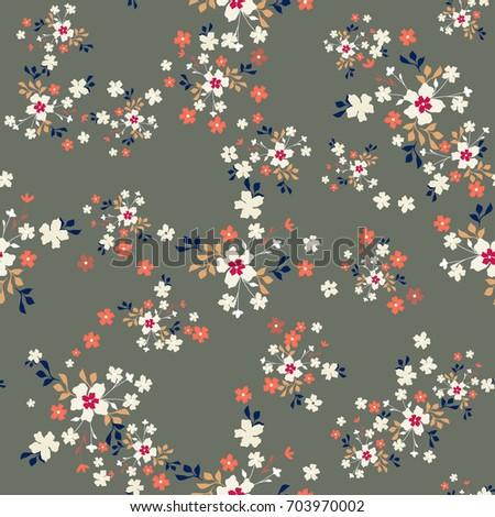 trendy seamless pattern with...