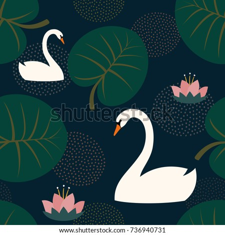 trendy seamless pattern with