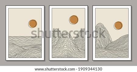 trendy set of minimalist