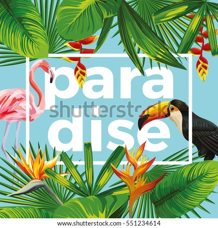 trendy slogan paradise in the