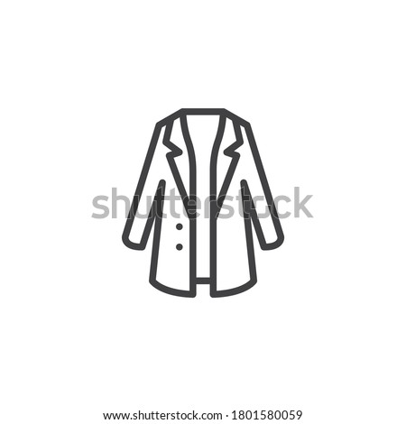 Trendy stylish coat line icon. linear style sign for mobile concept and web design. Coat with collar outline vector icon. Symbol, logo illustration. Vector graphics Photo stock ©