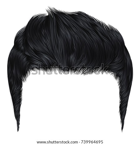 trendy stylish man hairs black