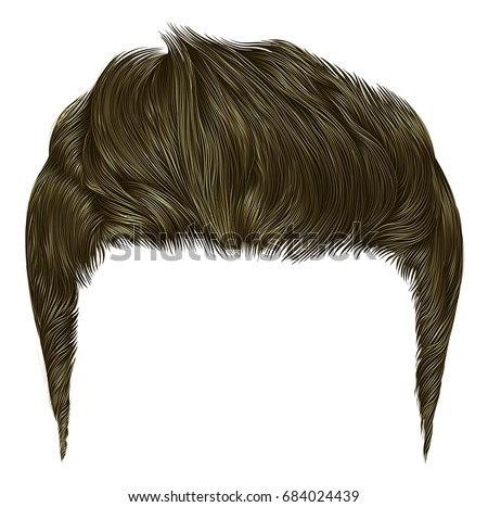 trendy stylish man  hairs brown