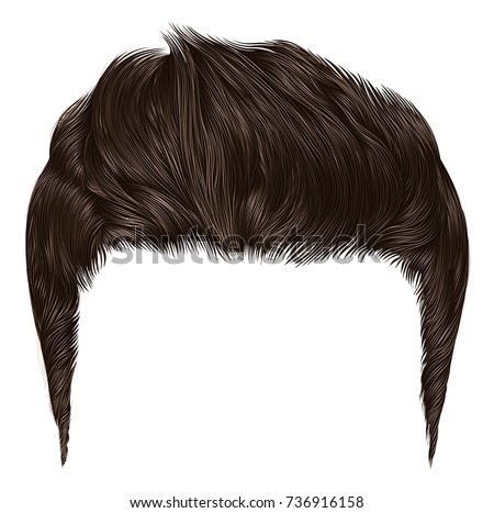 trendy stylish man hairs brown blonde colour. beauty style.high hair styling .