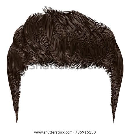 trendy stylish man hairs brown